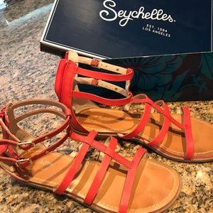 Seychelles geranium colored shoes fr Anthropologie